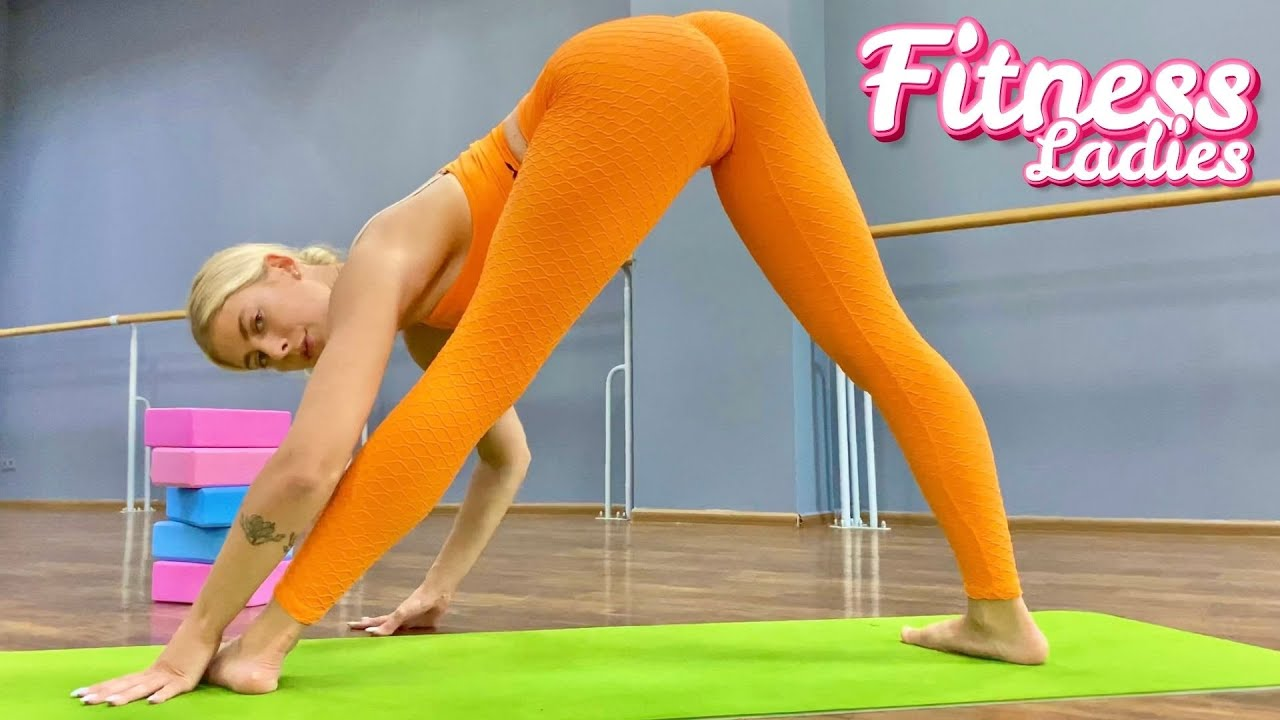 Stretching and Gymnastics workout for body with Fitness Ladies   Contortion   Yoga   Flexibility  