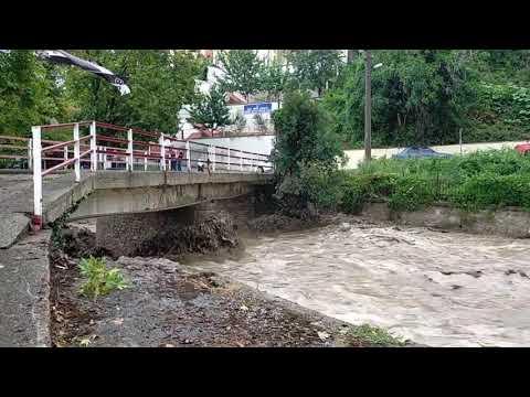 Kastamonu İnebolu Evrenye Köyü Dere Yatağı Su Yükseldi ???? Sağanak Yağış Sel Felaketine An Bıraktı