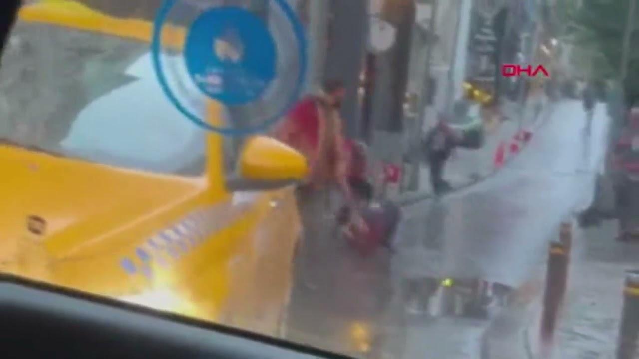 turist,İstanbul'da 2 metre boyundaki Amerikalı turist dehşet saçtı!
