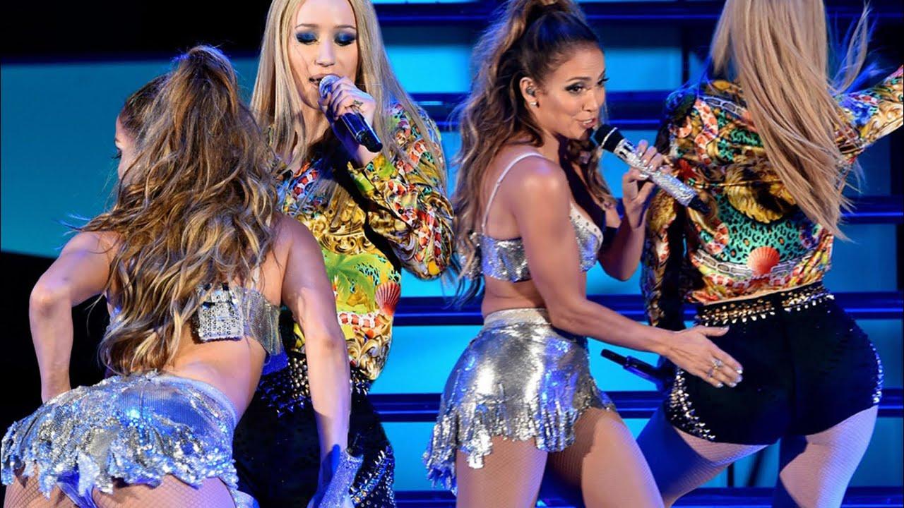 Iggy Azalea and Jennifer Lopez sexiest live performance of Booty