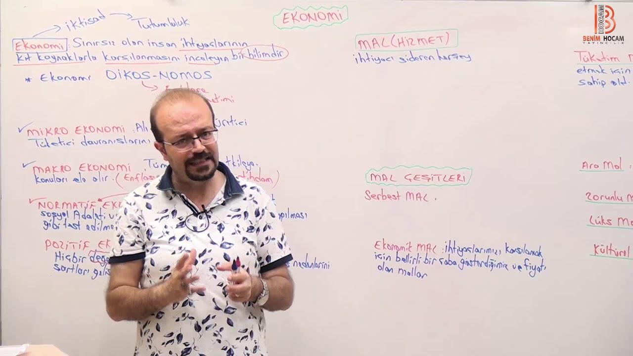 Ekonomiye Giriş ve Mal Çeşitleri / Ekonomi (Sosyal/Yan Alanlar)