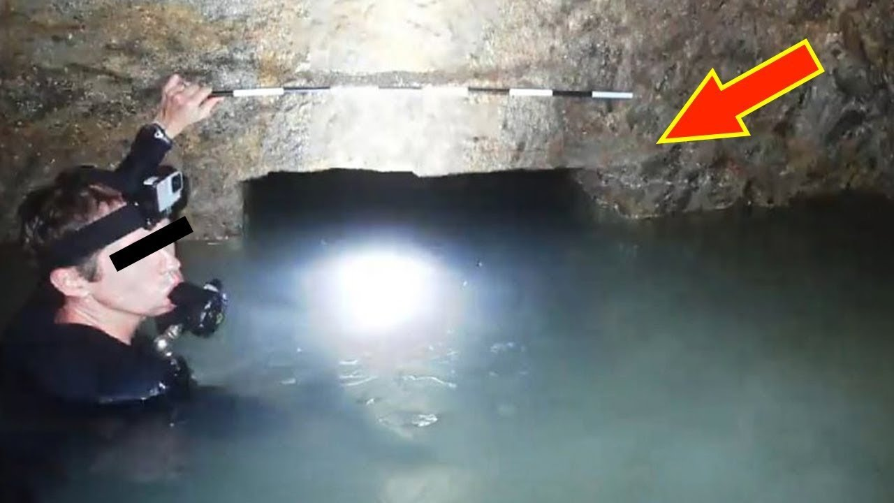Dalgıç Firavun Mezarının Altındaki Sualtı Hazinesini Keşfediyor