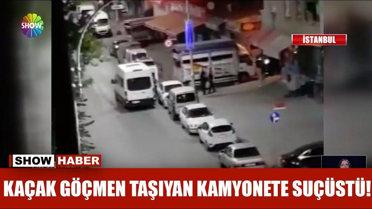 Kaçak göçmen taşıyan kamyonete suçüstü!