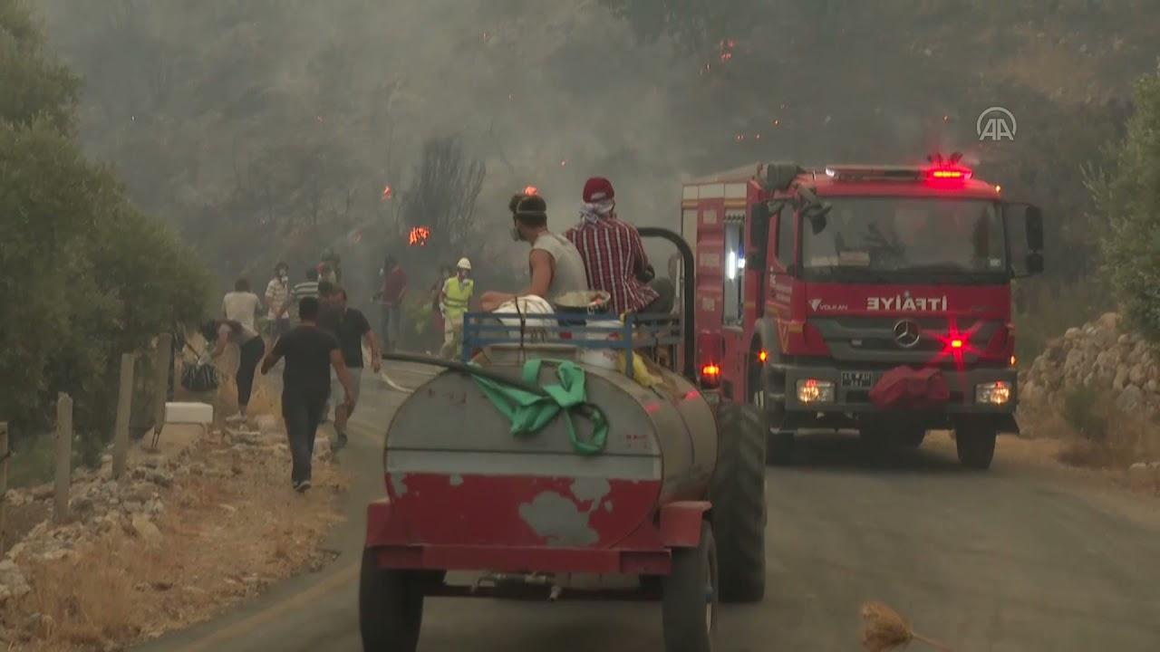 Milas'taki yangını kontrol altına alma çalışmaları sürüyor!