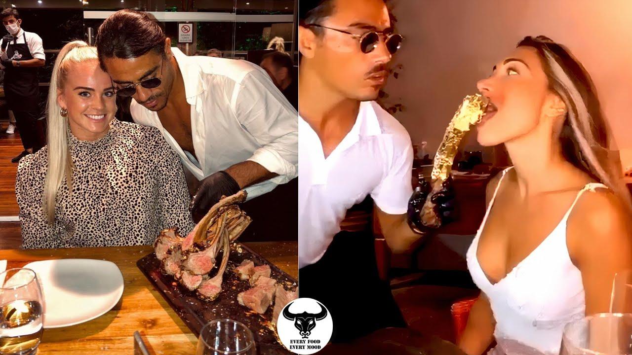 Saltbae Nusret Is Feeding Sexy Girls Steak #saltbae #nusret #salty