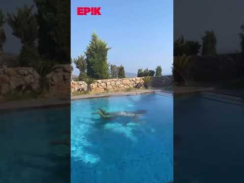 Aleyna Kalaycıoğlu bikinisiyle havuz keyfi yaptı!