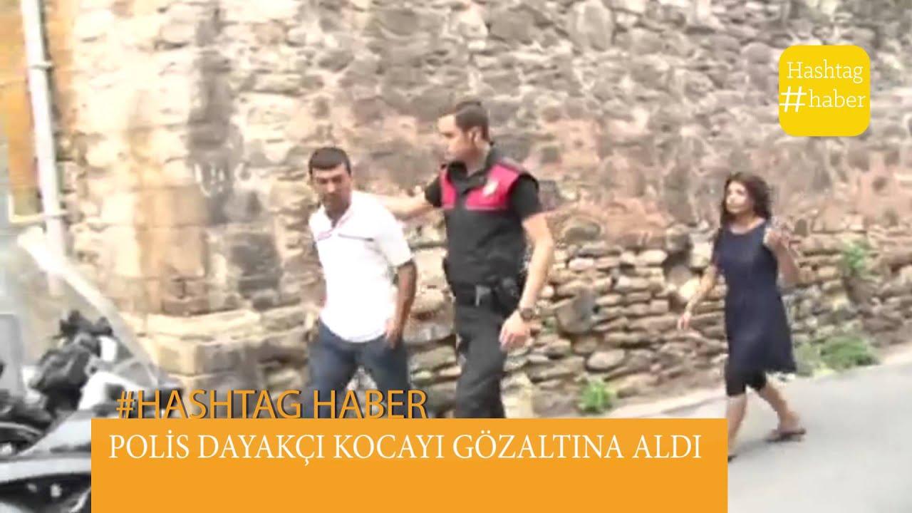 HAMİLE KADINA SOKAK ORTASINDA KOCA ŞİDDETİ