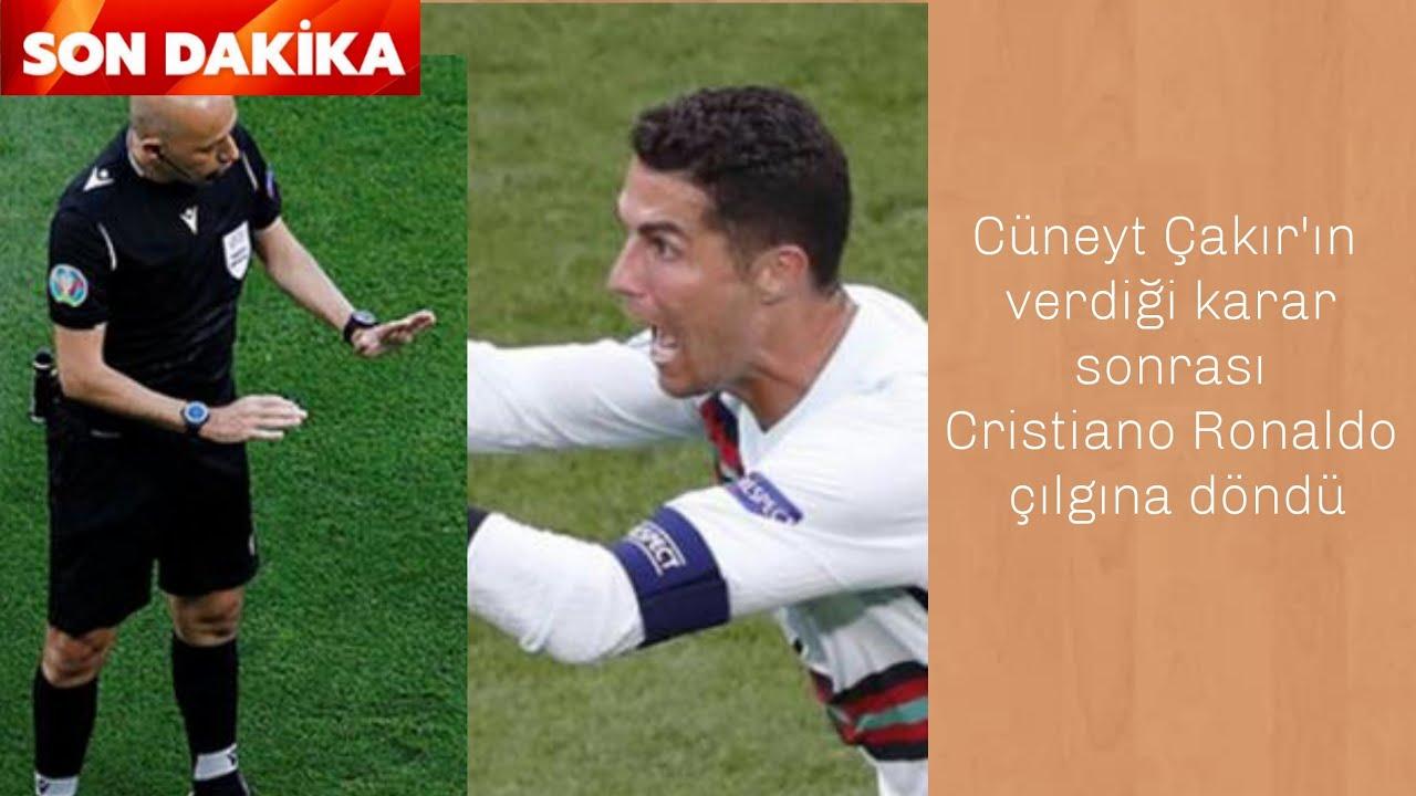 Cüneyt Çakır'ın verdiği karar sonrası Cristiano Ronaldo çılgına döndü