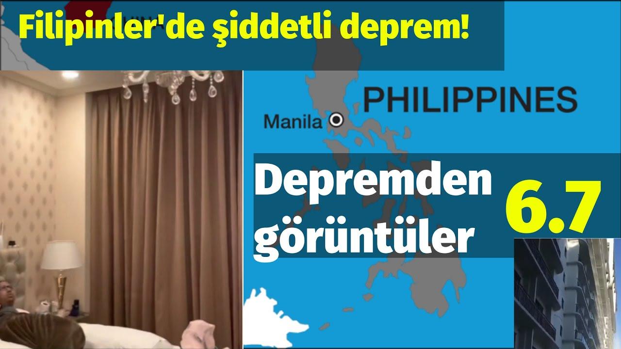 Filipinler'de 6.7 büyüklüğünde deprem oldu!