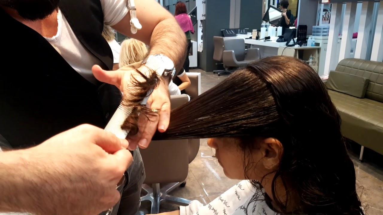 Dalgalı saçta katlı kesim nasıl yapılır