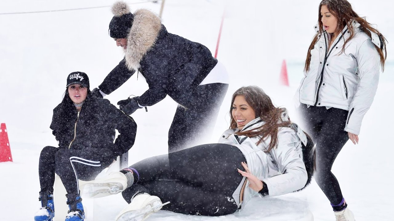 Chloe Ferry, Marnie Simpson and The Geordie Shore Crew Ice Skating In Tignes