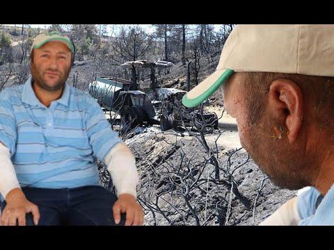 Yangında Son Anda Kurtulan Çiftçi: Aldığım Nefes Alev Gibiydi, Derimin Naylon Gibi Açıldığını Gördüm