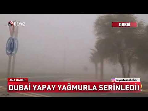 Dubai yapay yağmurla serinledi!
