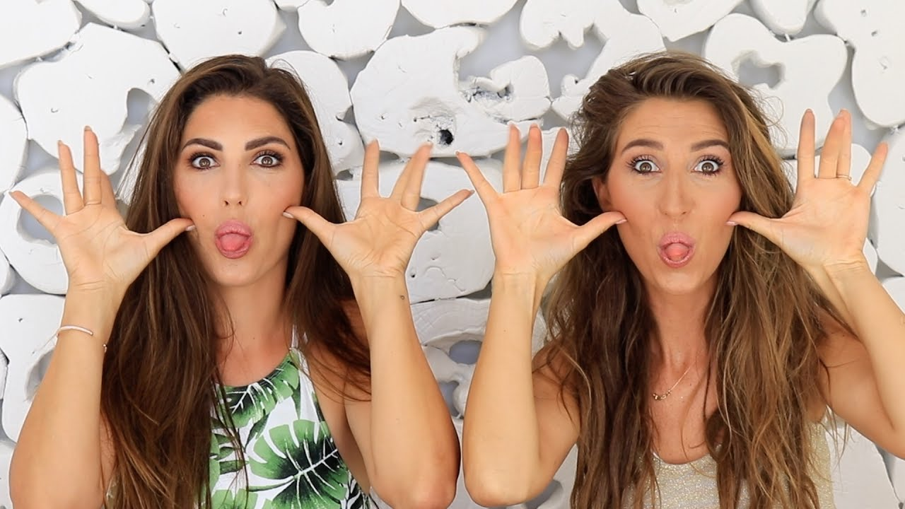 My sister Yolanthe and I doing eachothers makeup