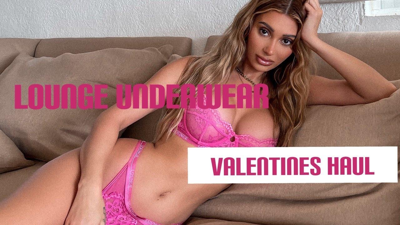 Lounge Underwear Valentines Haul   Francesca Farago