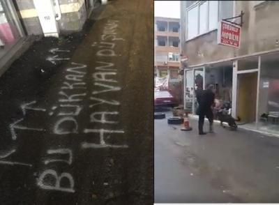 Köpekleri döven saldırganın dükkanına 'Bu dükkan hayvan düşmanı' yazıldı